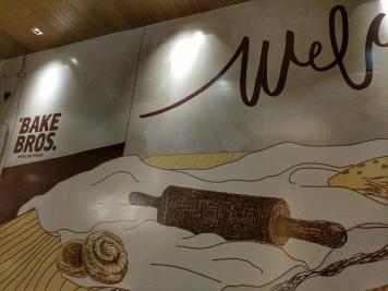 Bake Brothers cafe in Terminal 21 Bangkok, Thailand decorative wall