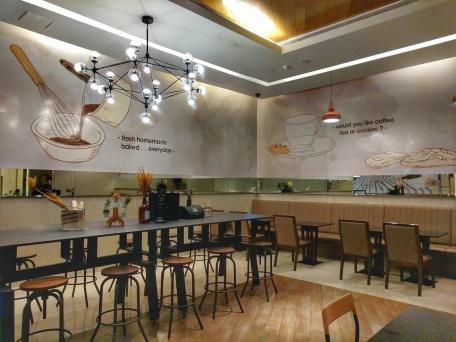 Bake Brothers cafe in Terminal 21 Bangkok, Thailand interior, minimalist design