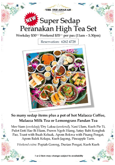 Peranakan Super Sedap High Tea Set Menu